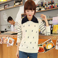 New Fashion Mohair Sweet Winter Pullover Women Sweaters Embroidered Long Sleeve Casual Striped Cat Print Kint Sweater for women