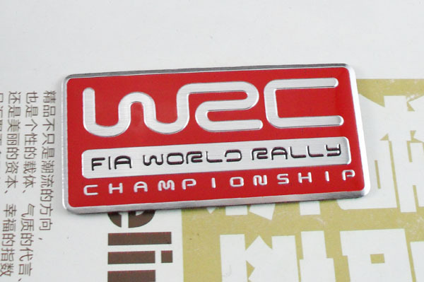 Auto car Aluminum red WRC World Rally Championship Emblem Decal Badge Sticker auto front grille grill badge emblem fit for wrc red rally impreza foreater sti wrx