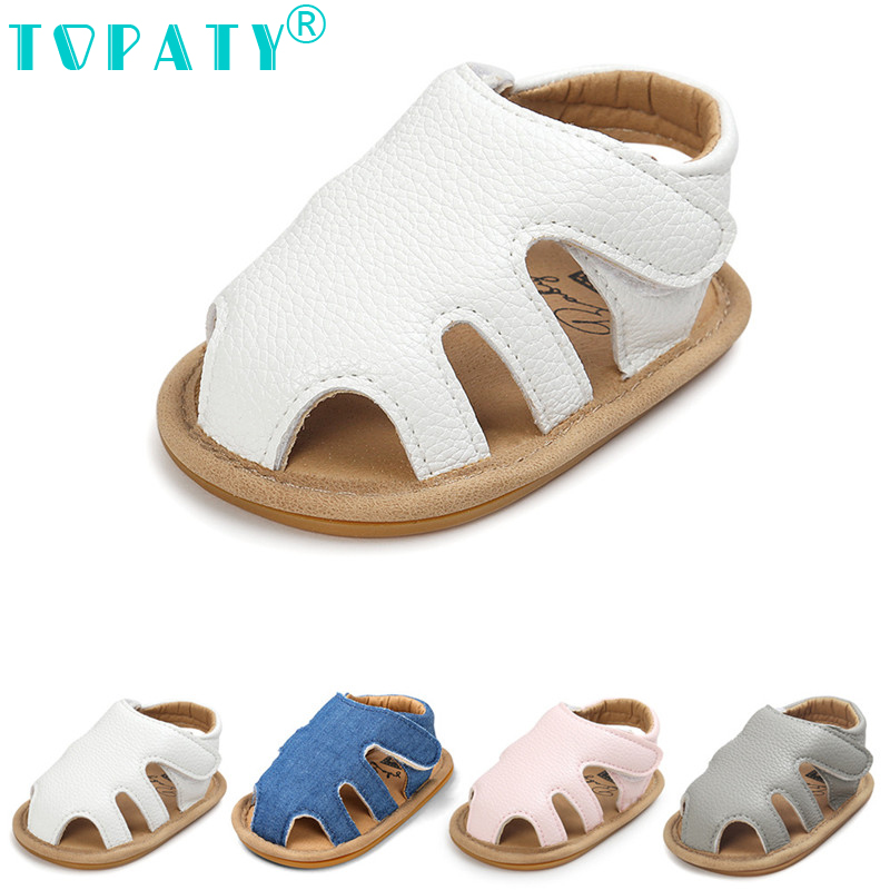 TOPATY 2018 New Solid Baby Girls Boys Shoes For Summer Zapatos de Bebe Newborn Anti-Skid Infantil First Walkers Sapatos Slippers