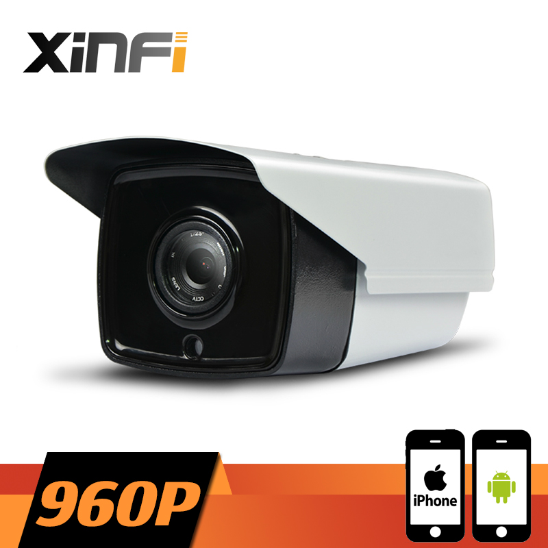 XINFI HD 960P CCTV camera 1.3 MP night vision Outdoor Waterproof network CCTV IP camera P2P ONVIF 2.0 PC&Phone remote view