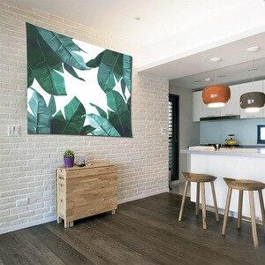 Image 2 - Nórdico cabeceira dos desenhos animados cactus tapeçaria parede pendurado tropic banana folha baleia peixe girassol decoração de casa pano de fundo