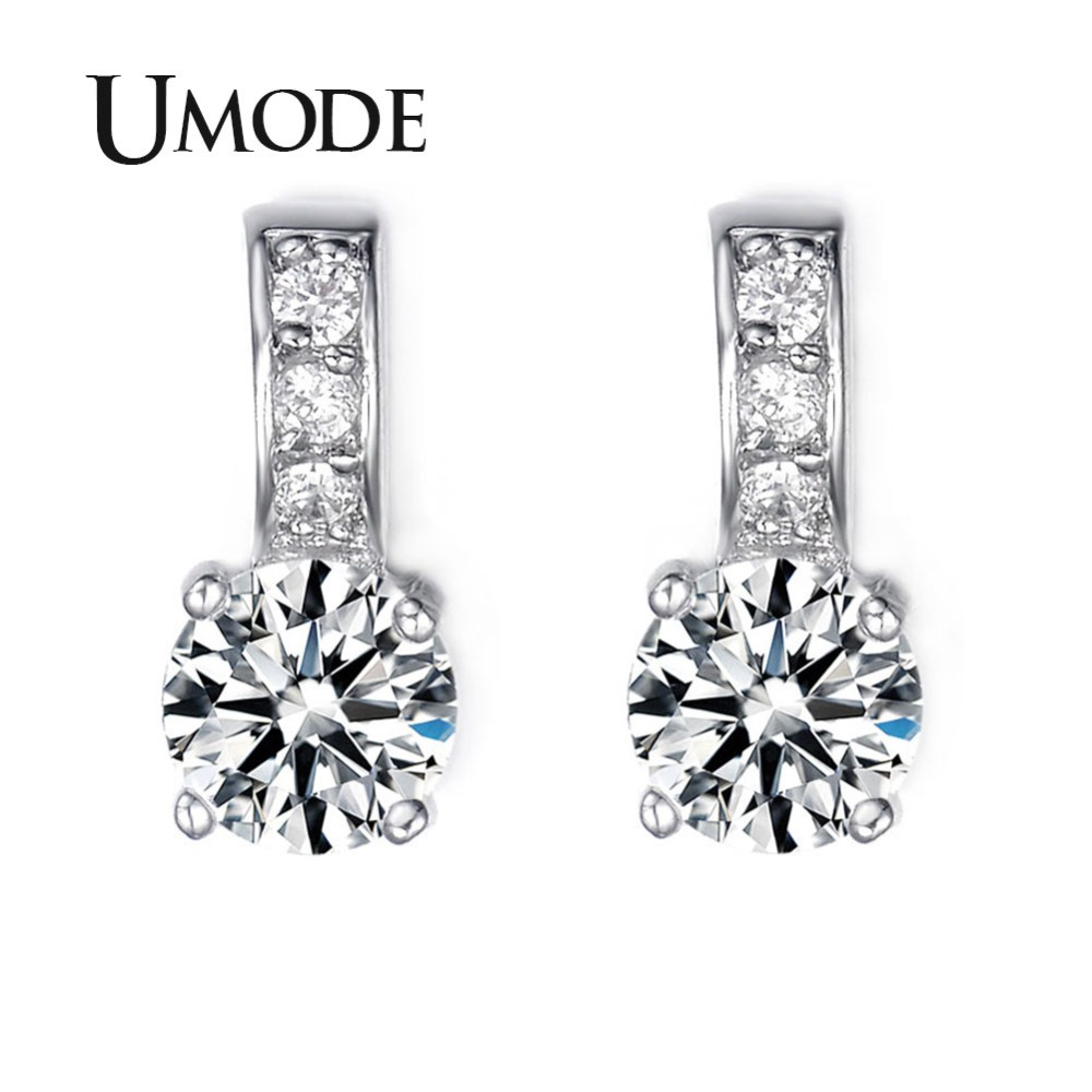 394d7a13a UMODE Brand Small Size Top Guality Classic Cubic Zirconia Stud Earrings For  Elegant Women Oorbellen UE0041