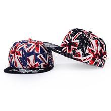 Unisex Men Women Lovers Union Jack UK Flag Snapback HipHop Hat Cap