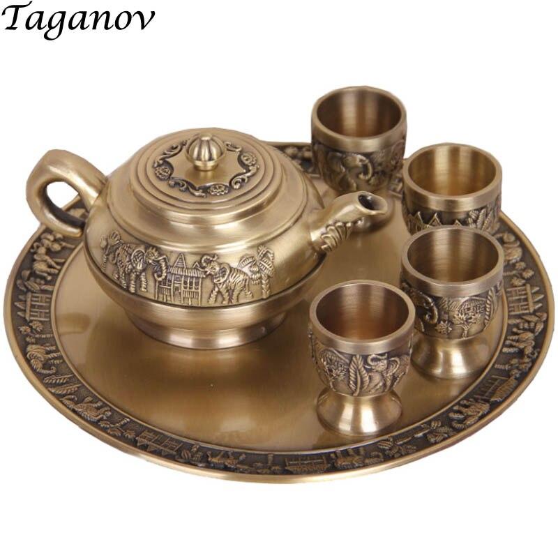 Set de thé chinois 6 pièces thé plateaux théières 4 thé théière japonaise verre théière plateau kung fu pivoine thé pu'er cadeaux d'affaires