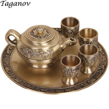 цена на chinese 6pcs teaware sets Tea Trays Teapots 4 teacups japanese teapot glass tea pot tray kung fu peony tea pu'er business gifts