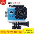 """Действий Камеры F60 Extrme Спорта камера Ультра 4 К HD 16Mp 170 градусов Широкий Угол 2.0 """"ЖК-водонепроницаемый 30 м мини камеры водонепроницаемый"""