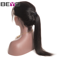Peruvian Straight Wig Full Lace Human Hair Wigs For Women Lace Wig With Baby Hair Pre Plucked Natural Hairline Non Remy Beyo
