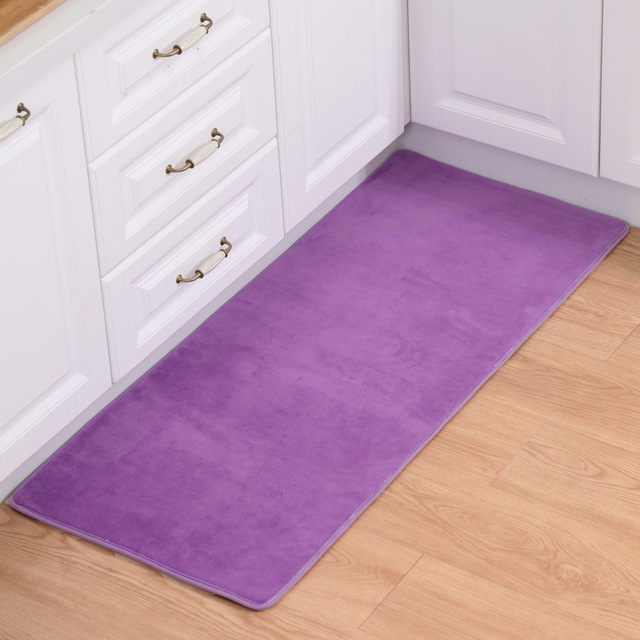 Zeegle Polos Dapur Karpet Lantai R Tidur Samping Tempat Alas Anti Selip Keset