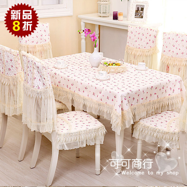 New arrival fc3 rose rustic lace cloth dining table cloth tablecloth coffee table cloth dining chair set cushion