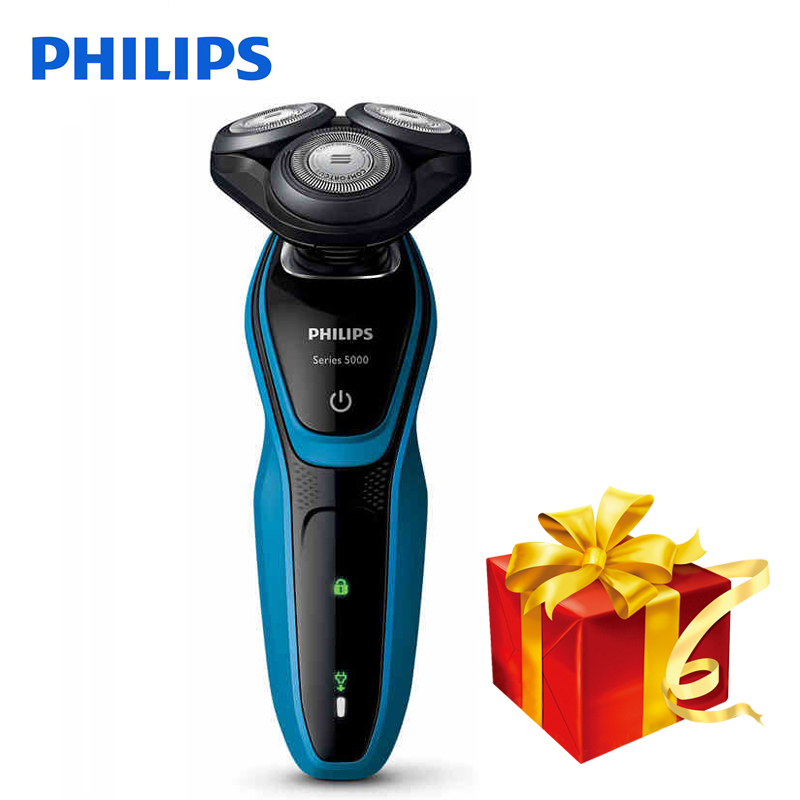 100% Original Philips Electric Shaver S5077 Rotary Rechargeable Washable With 3D Floating Heads For Men's Electric Razor 3d floating heads waterproof electric shaver wet