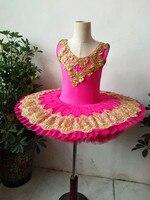 Custom made Ballet Tutus child Swan lake Ballet Dance Clothes for girls Pancake tutu Child Ballerina Figure Skating Dress