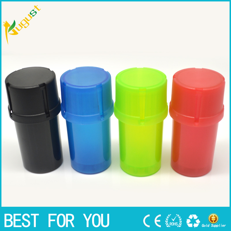 400pcs/lot Plastic Grinder Medical Grade Plastic Smell Tobacco Herb plastic case 3 layer ...