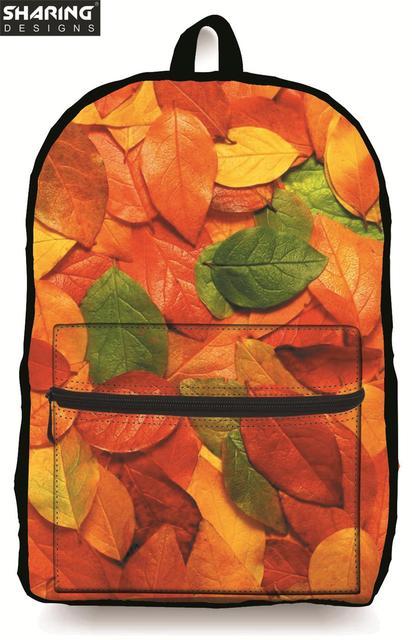 Niños de la manera Ropa Americana Bolsa de Mezclilla de La Vendimia de La Escuela Bolsa de La Escuela para Las Niñas Adolescentes Multicolor Mujeres Maple Leaf Bookbag