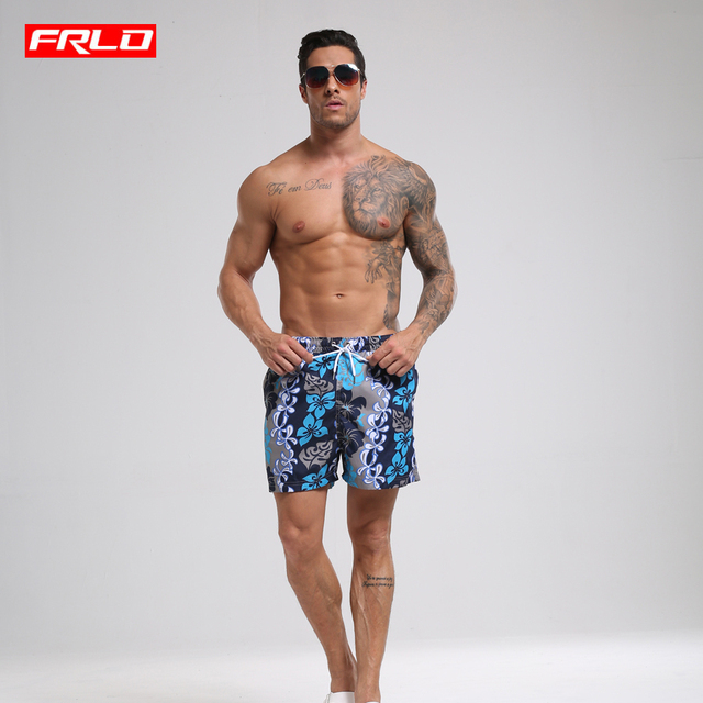 39aa379475 Best Offers 2018 Summer Men's blue flower print Board Beach surfing swimming  Shorts Sweatpants Maillot De