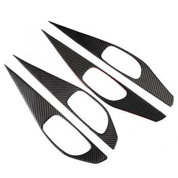 4pcs Real Carbon Fiber Inner Door Handle Bowl Cover Trim Fit For Infiniti Q50/Q50L 2013 2014 2015 2016 2017 2018 Car accessories