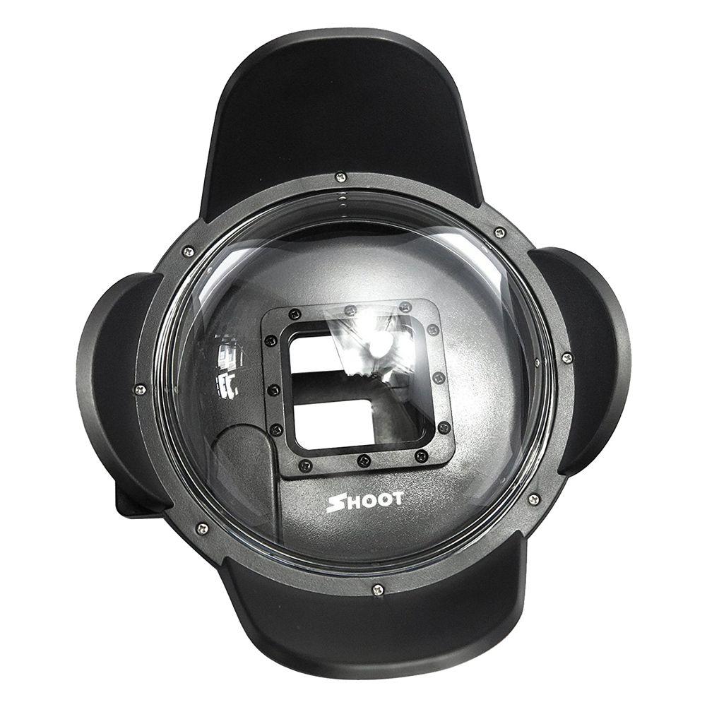 HOT-SHOOT Mini 2.5 Version 4 inch Lens Hood Dome Port Cover black