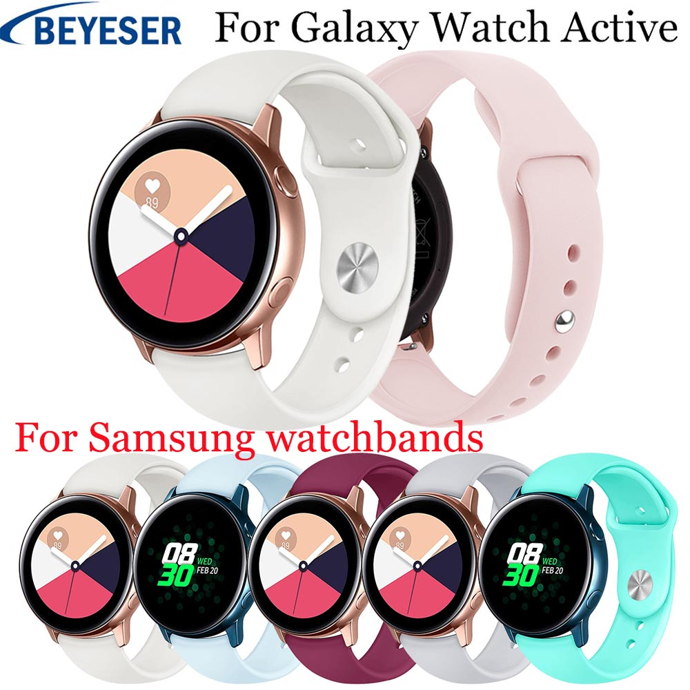 20mm Silicone bands For Samsung Galaxy Watch Active strap for Samsung gear S2 sport classic replacement watchband For Garmin 645