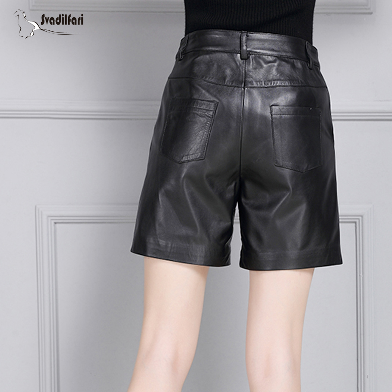 Femmes Jupes Qualité Noir Taille Shorts Véritable En La Svadilfari 4xl Bas Casual Cuir D'hiver Plus Haute 01q4T4Wg