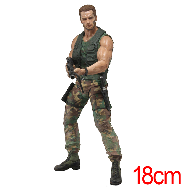 Movies Predators Alien Dutch Schaefer Jungle Patorl Dutch 30th Anniversary Action Figure Model Toy Brinquedos 4 Style Gifts movies