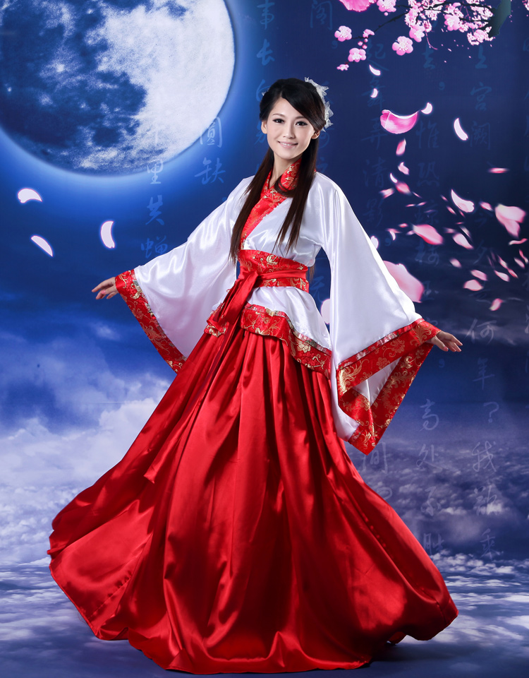 Top Grade Dance Costume Chinese ancient plus size clothing tang suit cosplay costume hanfu expansion skirt women's clothes