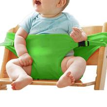 Baby Highchair Safety Belt Dining Lunch Chair Seat Harness Infant Children Feeding Booster Seat(China)