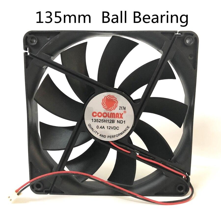 2 pièces Silencieux 135 MM 1325 13525 135*135*25 MM ventilateur de châssis 13525 mince 13.5 CM 12 V 0.4A 2pin