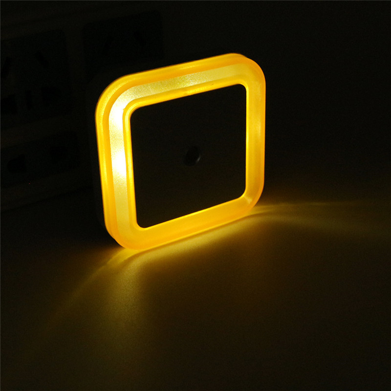 Novelty Light Sensor LED Night Light Baby Bedside Lamp Night Lamp luminarias Sleep Light For Kids Bedroom Stair EU US Plug creative cute green cartom car led night light for children baby kids white warm white bedside lamp resin night lamp gift