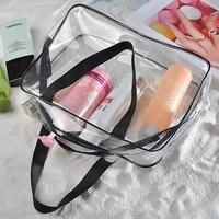 5 قطع من (3-in-1 pvc شفافة للماء متعددة الوظائف حقائب التجميل)