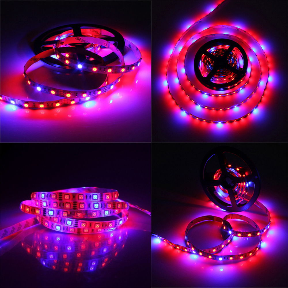 1pcs Aquarium light Waterproof Led grow light 660nm 460nm SMD5050 72W Led Strip Plant lamp grow