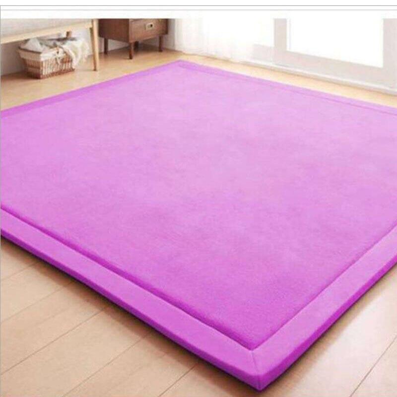 Grande taille japonais tatami tapis pur coton tissu chambre tapis épaissi enfants grimpé tapis Rectangle salon tapis