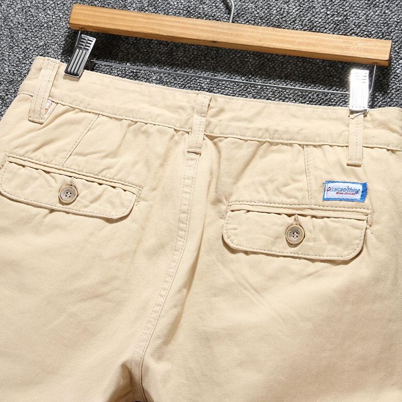 Плюс размер 28 ~ 40 классический бегунов мужчин случайные брюки моды вскользь уменьшают мужские khaki брюки брюки лето хлопок брюки мужчины