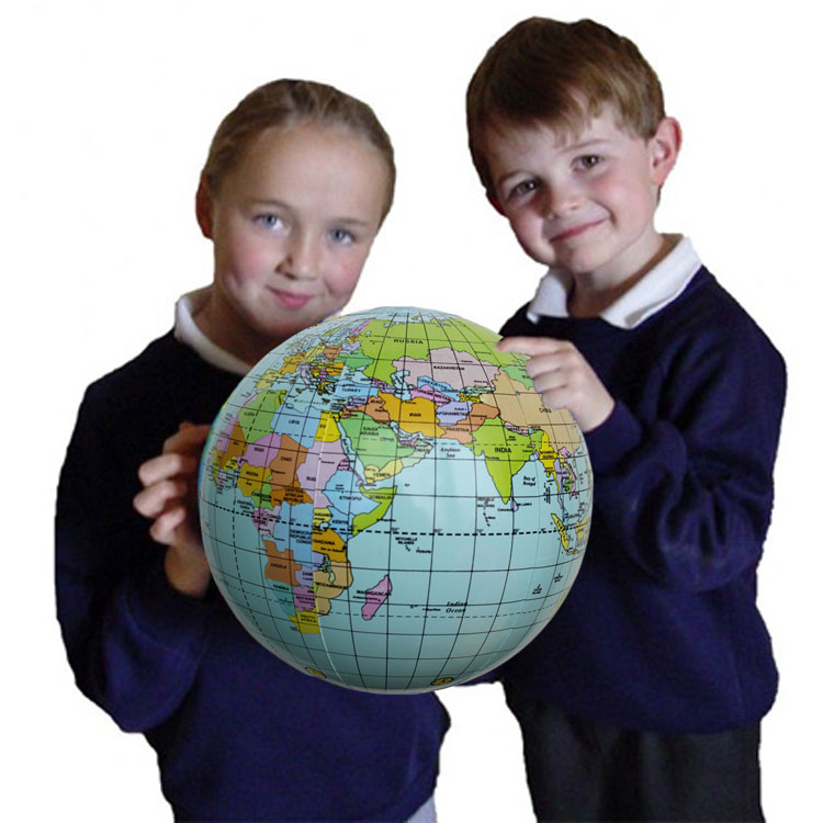 BOHS Large 26cm Inflatable English Earth Globe Tellurion Toy Ball Geography Science Teaching Aids Globus