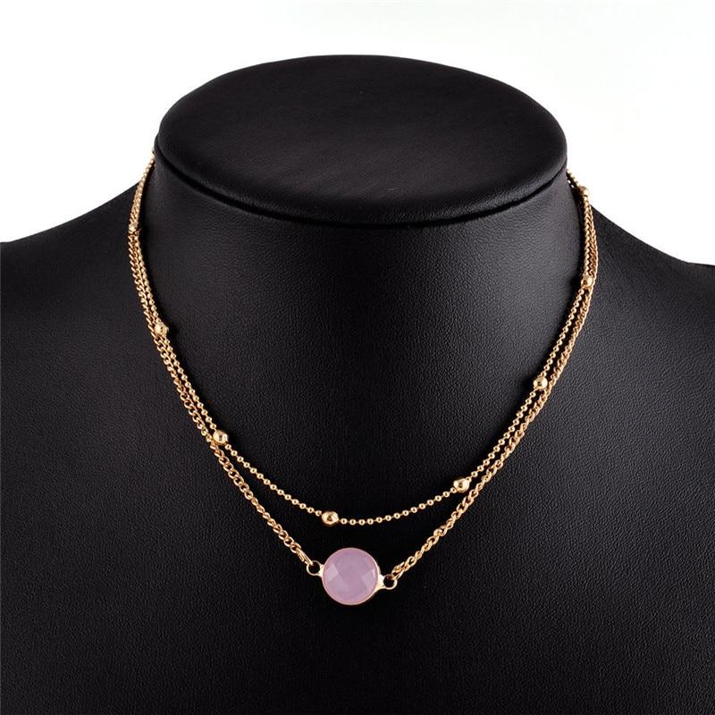 Charm Women/'s Crystal Board Pendant Bib Choker Chain Statement Necklace Jewelry