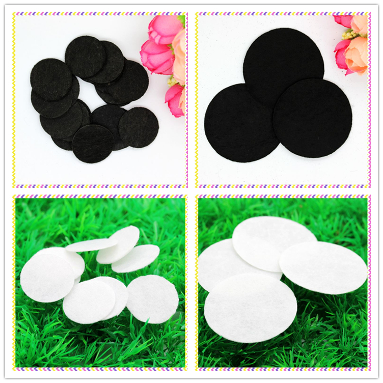 Free shipping black and white <font><b>felt</b></font> circles patches hairbow decoration diy wholesale OEM 25mm and <font><b>50mm</b></font> D434 image
