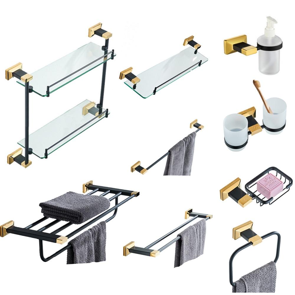 Kolerth Poliert Aluminium Badezimmer Zubehör Set Mit Handtuch Halter Haken Papier Halter Pinsel Halter Bad Hardware Set Badezimmerarmaturen