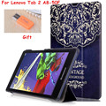"""For Lenovo Tab 2 A8 Tab3-850m Tab2 A8-50F  8"""" Tablet Case Colorful Painted Ultra Slim PU Leather Case Flip Protective Cover"""