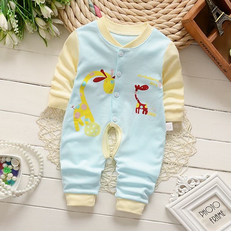 Spring Autumn Baby Clothes Newborn Baby Romper Cartoon Boys Girls Clothing Cotton Jumpsuits Winter Kids Clothing Costume Roupas newborn winter autumn baby rompers baby clothing for girls boys cotton baby romper long sleeve baby girl clothing jumpsuits
