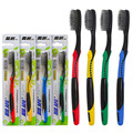 2pcs/lot Portable Travel Toothbrush Superfine Wire Soft Bamboo Binchoutan Charcoal Toothbrush Tongue Cleaner For Kids And Adults