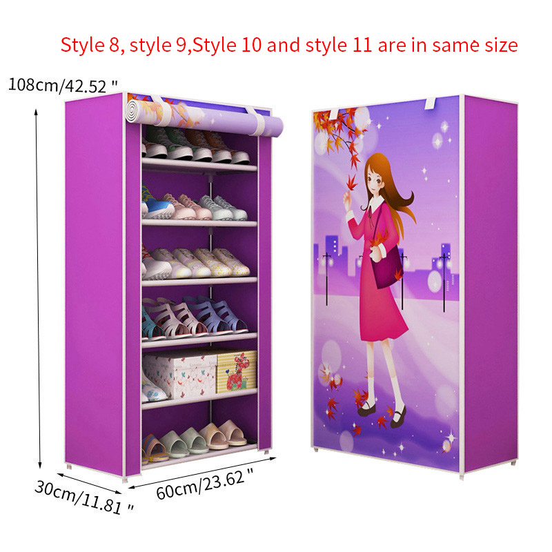 Image 4 - Furniture Shoe Racks Shoe Cabinets Save Space Multiple Layers Shoes Shelf Holder Stand Dustproof Home Organizer Living RoomShoe Cabinets   - AliExpress