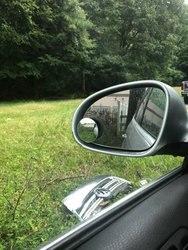 Frete grátis vara clara espelho retrovisor do carro de segurança grande angular ponto cego espelho estacionamento redondo convexo automóvel exterior accessorie