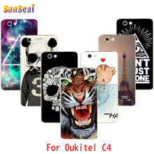 Oukitel C4 Case Aztec Panda Me Tiger Tower Skull Girl Balloon Blocks Lips Hard Cover Phone Cases For Oukitel C4