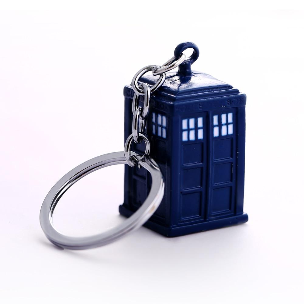 Doctor Who Key Chain TARDIS Key Rings For Gift Chaveiro Car Keychain Jewelry Movie Key Holder Souvenir YS11116