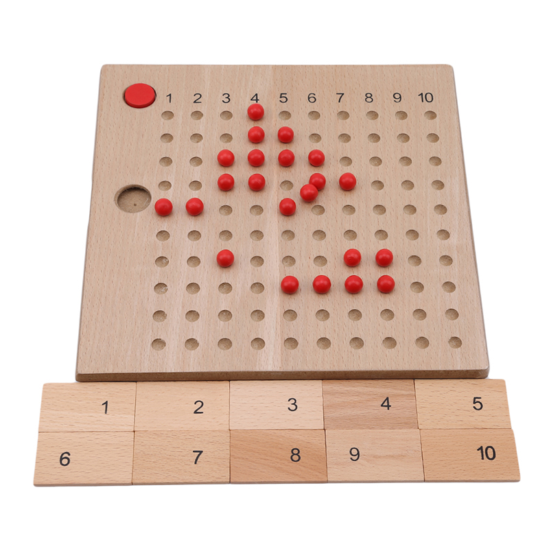 Montessori Educational Wooden Toy Multiplication And Division Bead Board For Early Childhood Preschool Training -Family