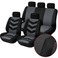 Gray 9pcs/Set Sports Breathable and cool Auto Car Seat Cover Full Front Seat Mat Pad Protector