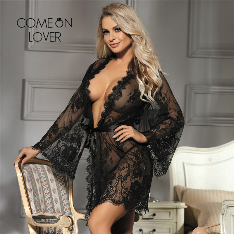 d4269b14e3104 Buy see through robes for women plus size and get free shipping on  AliExpress.com