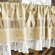 New arrival 45x130cm modern lace kitchen window curtains short door curtains for kitchen window cotton cafe kitchen curtains