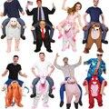 2019 neueste Trump Hosen Party Einhorn Tier Kleid Up Fahrt Auf Mich Maskottchen Kostüme Tragen Zurück Neuheit Spielzeug Party Cosplay kleidung