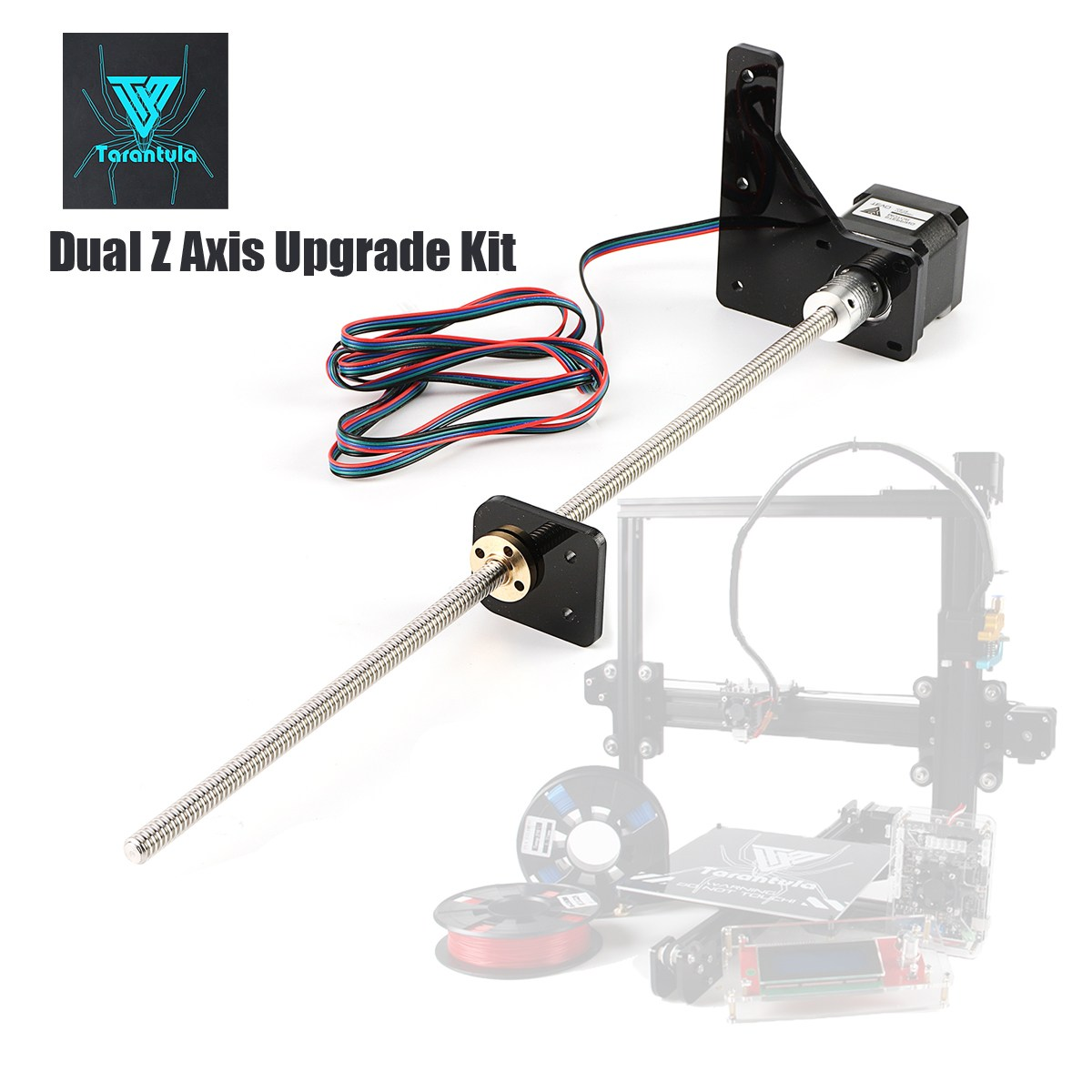 TEVO Tarantula Dual Z Axis Upgrade Kit Nema 42 Step Motor and T8*2 Lead Screw 375 mm 8mm with Brass Copper for 3D Printer Part-in 3D Printer Parts & Accessories from Computer & Office    1
