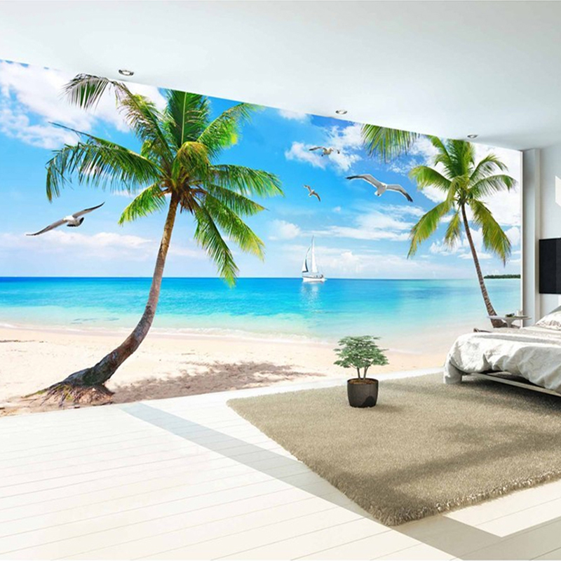 Customize any size 3D hd photo wallpaper mural Art Wall living room photo wall mural Home Decor wallpapers for wallpaper murals custom photo wallpaper 3d wall murals balloon shell seagull wallpapers landscape murals wall paper for living room 3d wall mural