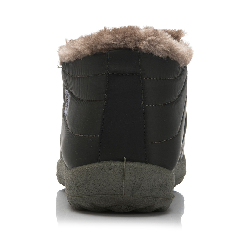 New 2018 Men WARM Winter Shoes Solid Color Fur Snow Boots Plush Inside Antiskid Bottom Keep Warm Waterproof Ski Boots Size 35 48 in Snow Boots from Shoes
